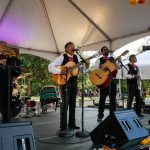 Mariachi Corbetas from Austin performs at Día De Los Muertos. The 2017 event was held in honor of the group's former members, Anthony Ortiz Jr., an accordion prodigy who died after a 10-month fight with cancer according to the Austin American-Statesman. Ortiz Jr. played in the Mariachi Corbetas with his father and grandfather.