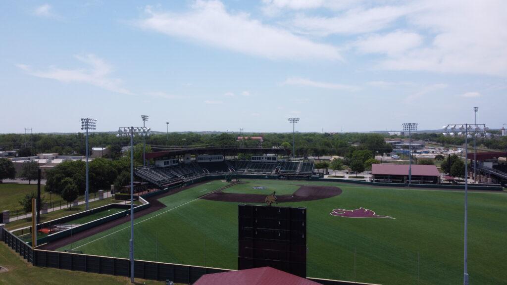 Empty baseball stadium
