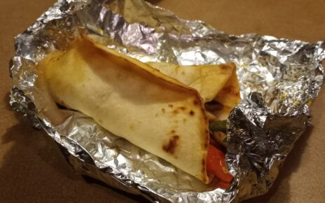 A carne Asada taco in Foil